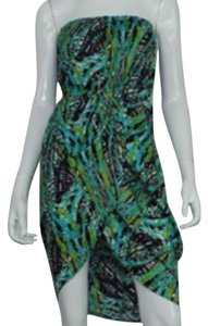 Bar III short dress Green multi on Tradesy