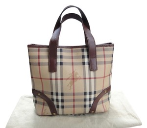 Burberry London Tote in Check/Brown