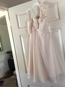 Allure Bridals Bpk (Blush) Polyester 1233 Modern Bridesmaid/Mob Dress Size 2 (XS)
