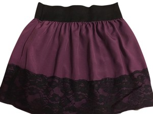 Stooshy Lace Lace Trim Skirt Purple