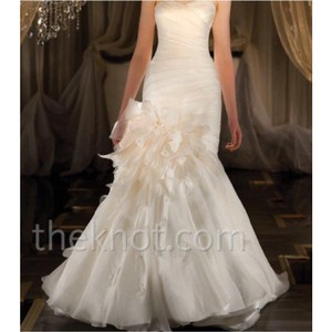 Martina Liana Ivory with Blush Bow Wedding Dress Size 12 (L)