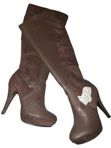 8d864f1bc88d Brown ShoeDazzle Boots   Booties - Up to 90% off at Tradesy