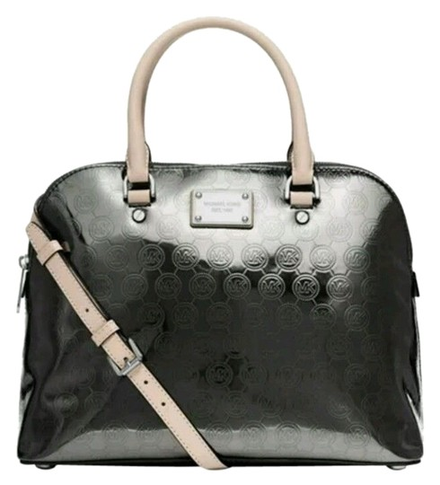Preload https://item2.tradesy.com/images/michael-kors-cindy-large-dome-signature-nickel-monogrammed-leather-satchel-4911031-0-0.jpg?width=440&height=440