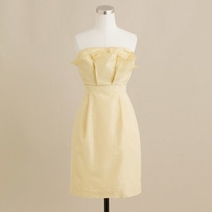 J.Crew Yellow Taffeta Mika Feminine Bridesmaid/Mob Dress Size 8 (M)