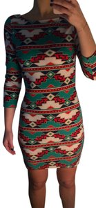 Other Bodycon Aztec Dress