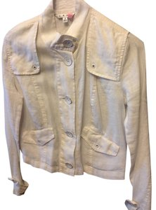 CAbi Linen White Jacket