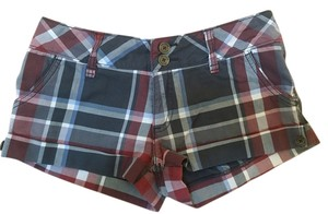 Hollister Mini/Short Shorts Red Plaid