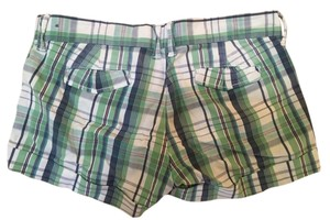 Abercrombie & Fitch Mini/Short Shorts Green/Blue Plaid