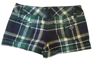 Hollister Mini/Short Shorts Green/Blue Plaid