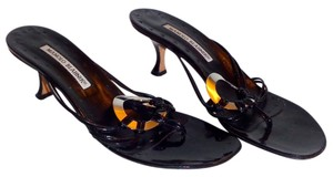 Manolo Blahnik Runs Small Black Sandals