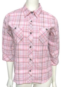 Woolrich Cotton Plaid Checkers Button Down Shirt pink