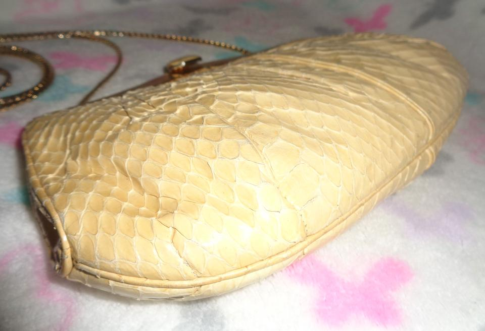 Judith Gold Shoulder Beige Bag Snakeskin Leiber Clutch Comb Matching with vYHnpv4rq