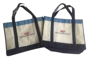 Vineyard Vines Tote in Blue, Pink, and White