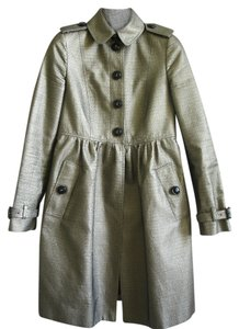 Burberry Jacket Jackets Trench Trench Trench Trench Trench Beige Beige Spring Spring Jackets Metallic Metallic Trench Coat