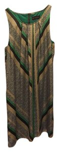 Dana Buchman short dress Green, brown, gold and white on Tradesy