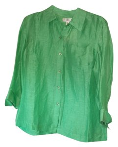 Coldwater Creek Button Down Shirt Green