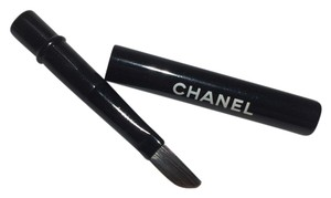Chanel Chanel travel eye makeup or concealer brush with case.