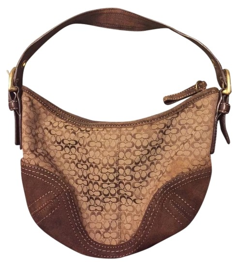Preload https://img-static.tradesy.com/item/4914013/coach-e062-2154-brown-and-tan-leather-fabric-baguette-0-1-540-540.jpg