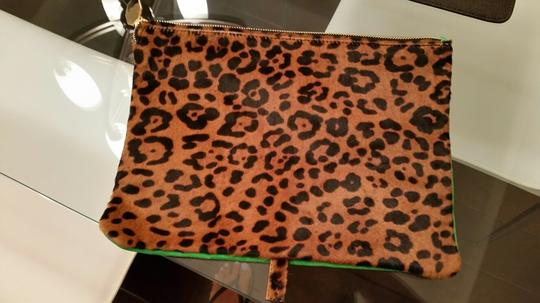 Meli Melo Cheetah green and leopard Clutch