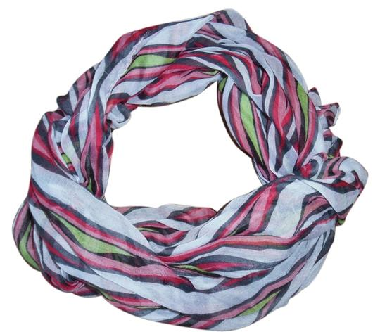 Other Striped Red Pink Green White Boho Scarf Shawl Wrap