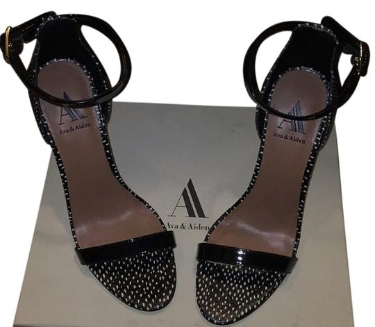Ava & Aiden Black patent Platforms