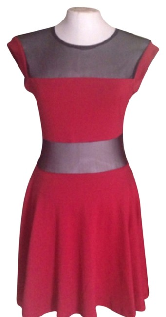 OlsenBoye short dress Red/black on Tradesy