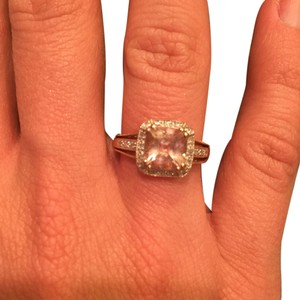 Jared Rosegold Diamond and Morganite Ring
