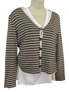 St. John Sport by Marie Gray St. Knit V Neck Twinset Twin Set Knits Sweater