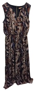 Black/Brown Maxi Dress by Gibson & Latimer Print