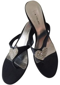 Other - Italian Crystals Date Night Embelished Thong Black with rhinestones Sandals