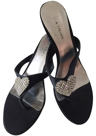 Other - Italian Crystals Date Night Embelished Black with rhinestones Sandals