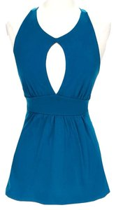Susana Monaco short dress Blue Keyhole on Tradesy