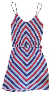 Ezekiel short dress Red & Blue Patterned on Tradesy