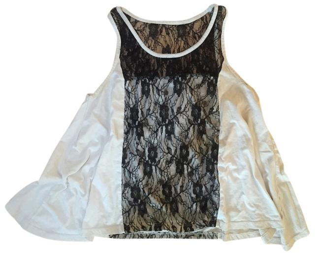 Urban Outfitters Top Cream and Black Lace