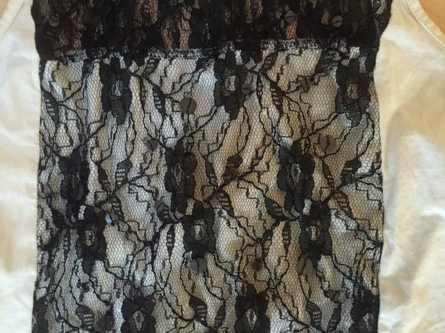 Urban Outfitters Top Cream and Black Lace Image 1