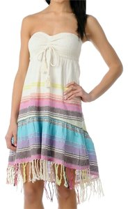 Billabong short dress multicolor Cute Tassels Colorful Swim Cover Up Boho on Tradesy