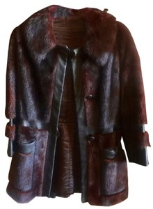 Beverly Hills Furriers Mink Leather Fur Winter Fur Coat