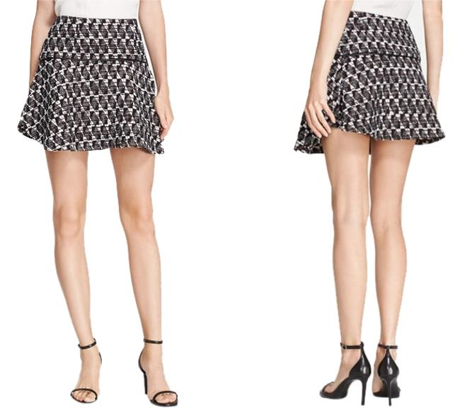 Rebecca Minkoff Tweed Fit & Flare Mini Skirt