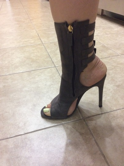 Halston Taupe Boots Image 1