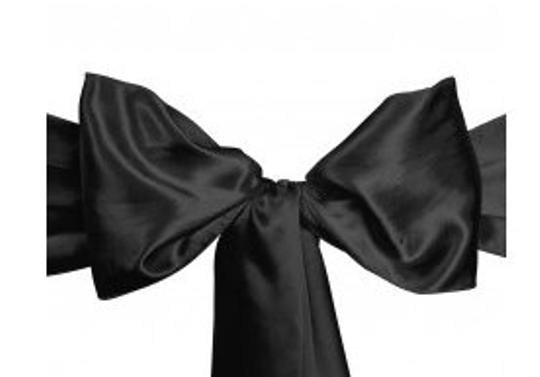 Black Satin Chair Ties