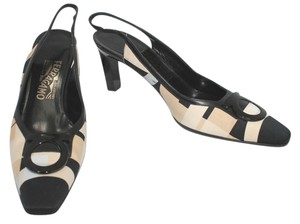 Salvatore Ferragamo Silk Slingback 8 Pumps