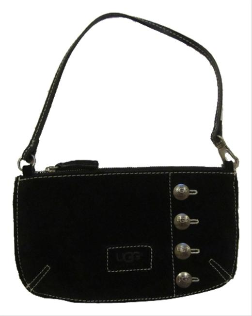 Item - Messenger Town Princeton Pocket Black Suede Wristlet