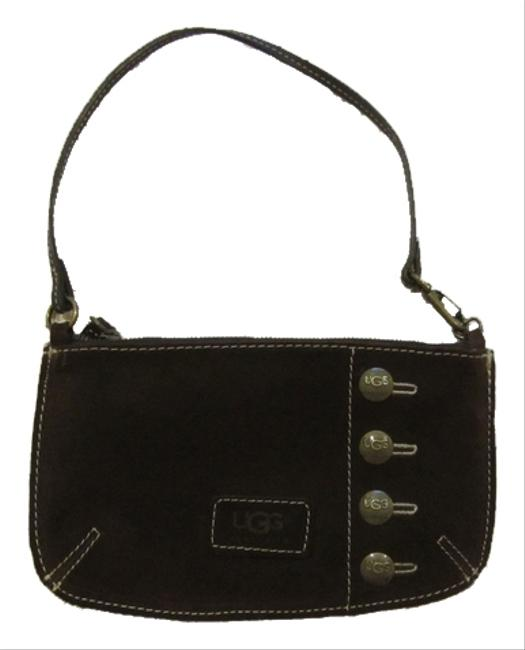Item - Messenger Town Princeton Pocket Coffee Suede Wristlet