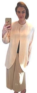 Calvin Klein Collection Silk Single Button Cream Jacket