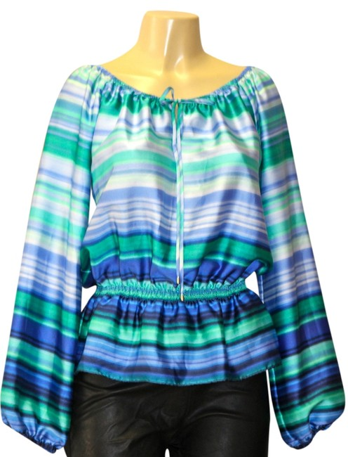 Michael Kors Top stripes blue/green
