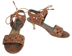 Stuart Weitzman Leather 7 BROWN Sandals