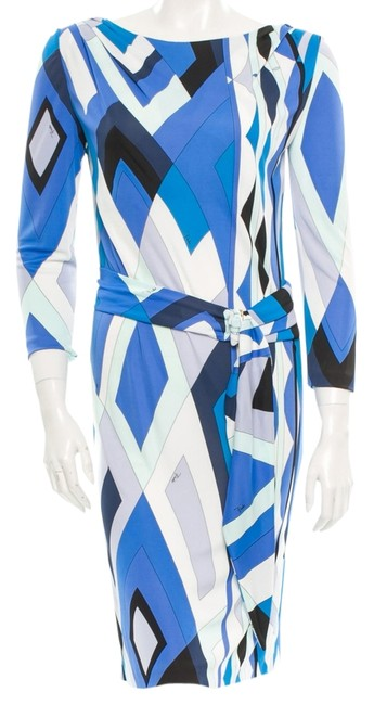 Preload https://item3.tradesy.com/images/emilio-pucci-white-multicolor-dress-blue-4922737-0-1.jpg?width=400&height=650