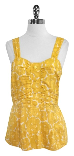 Preload https://item2.tradesy.com/images/marc-by-marc-jacobs-yellow-floral-print-cotton-tank-topcami-size-6-s-4922896-0-0.jpg?width=400&height=650