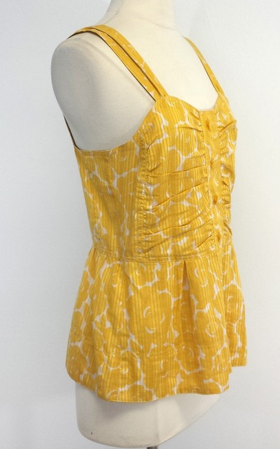 Marc by Marc Jacobs Floral Print Cotton Top Yellow
