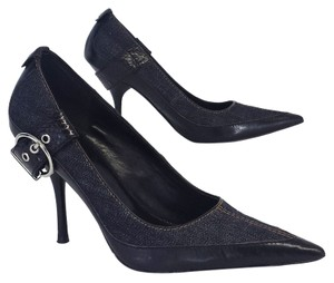 Karen Millen Denim Pointy Toe Pumps
